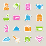 Hotel and travel icon set Royalty Free Stock Photo