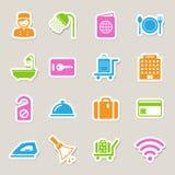 Hotel and travel icon set. Illustration eps10 Royalty Free Stock Photo