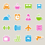Hotel and travel icon set Stock Photo