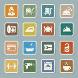 Hotel and travel icon set Stock Image