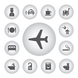 Hotel and travel icon set Royalty Free Stock Images