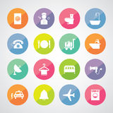 Hotel and travel icon set Royalty Free Stock Image