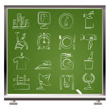 Hotel and travel icons. Vector icon set Royalty Free Stock Photography