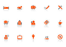 Hotel and travel icons. Vector illustration of hotel and travel icons Stock Photo