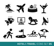 Hotel and Travel. Icons set 05 Royalty Free Stock Images