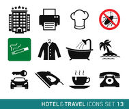 Hotel and Travel. Icons set 13 Vector Illustration
