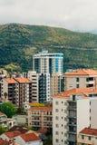 Hotel Tre Canne on the coast of Budva Stock Photography