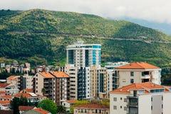 Hotel Tre Canne on the coast of Budva Stock Photo