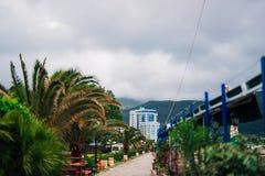 Hotel Tre Canne na costa de Budva Fotos de Stock Royalty Free