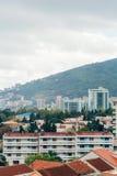 Hotel Tre Canne op de kust van Budva Stock Foto's