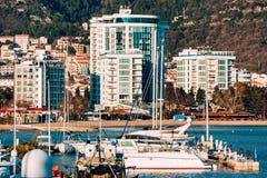 Hotel Tre Canne sulla costa Immagini Stock Libere da Diritti