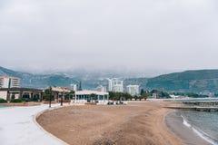 Hotel Tre Canne sulla costa di Budua Immagini Stock Libere da Diritti