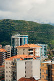Hotel Tre Canne sulla costa di Budua Immagine Stock Libera da Diritti
