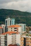 Hotel Tre Canne sulla costa di Budua Fotografie Stock Libere da Diritti