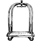 Hotel trolley Stock Illustration