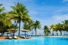 Hotel tropical Fotos de archivo