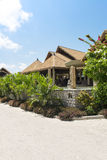 Hotel on tropical beach, La Digue Stock Image
