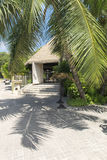 Hotel at tropical beach, La Digue, Seychelles Stock Photography