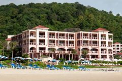 Hotel on the tropical coast Stock Image