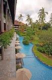 Hotel tropical de lujo (Bali) Imagen de archivo libre de regalías