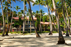 Hotel at tropical resort Stock Photos