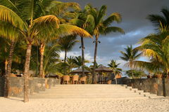 Hotel tropicale Terrasse Fotografie Stock