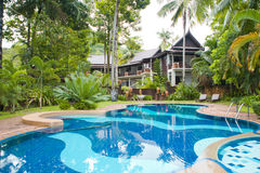 Hotel in the tropics Stock Images