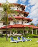 Hotel in tropics Stock Photo
