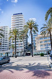 Hotel Tryp Bellver on Paseo Maritimo Royalty Free Stock Photo