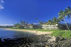 Hotel turístico de la bahía de Hanapepe, Kauai, Hawaii Foto de archivo libre de regalías