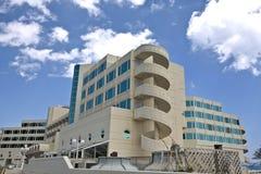 Hotel turístico en la isla de Rodas Foto de archivo