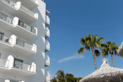 Hotel turístico español Foto de archivo libre de regalías