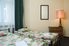 Hotel twin room Stock Photo