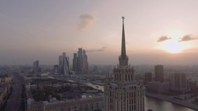Hotel Ucrania y terraplén metrajes