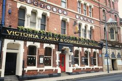 Hotel in the UK. LEEDS, UK - JULY 11, 2016: Victoria Family and Commercial Hotel in Leeds, UK. Leeds urban area has 1.78 million population Royalty Free Stock Images