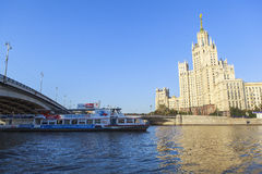 Hotel Ukraina at Moscow, Russia. This picture is taken at Moscow, Russia. The Radisson Royal Hotel, Moscow is a five-star luxury hotel in Moscow city centre, on stock image