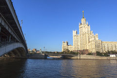 Hotel Ukraina at Moscow, Russia. This picture is taken at Moscow, Russia. The Radisson Royal Hotel, Moscow is a five-star luxury hotel in Moscow city centre, on royalty free stock photos