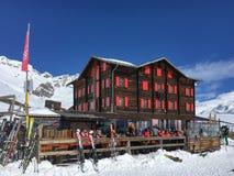 Hotel und Gebirgsrestaurant Fluhalp, Zermatt, die Schweiz lizenzfreie stockfotos