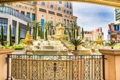 Hotel- und Kasinowasserbrunnen Palazzo Stockbild