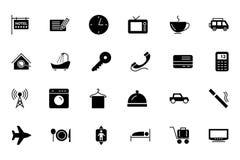 Hotel-und Restaurant-Vektor-Ikonen 1 Lizenzfreie Stockfotografie