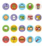 Hotel-und Restaurant-Vektor-Ikonen 5 Lizenzfreie Stockbilder