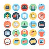 Hotel und Service-Vektor-Illustrationen 1 Lizenzfreies Stockfoto