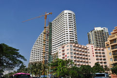 Hotel under construction royalty free stock image