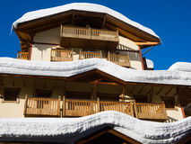Hotel under snow Stock Images
