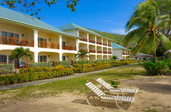 Hotel units at friendship beach, bequia Royalty Free Stock Photo