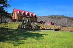 Hotel in the Ural Mountains Royalty Free Stock Photography