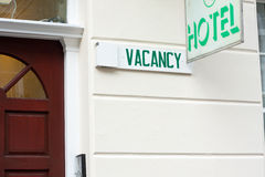 Hotel vacancy Royalty Free Stock Images