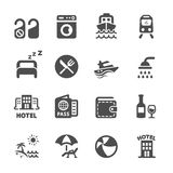Hotel and vacation icon set, vector eps10 Royalty Free Stock Image