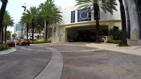 Hotel valet ramp drive up stock video