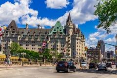 Hotel van Château Laurier van Ottawa het Oude Stock Foto's